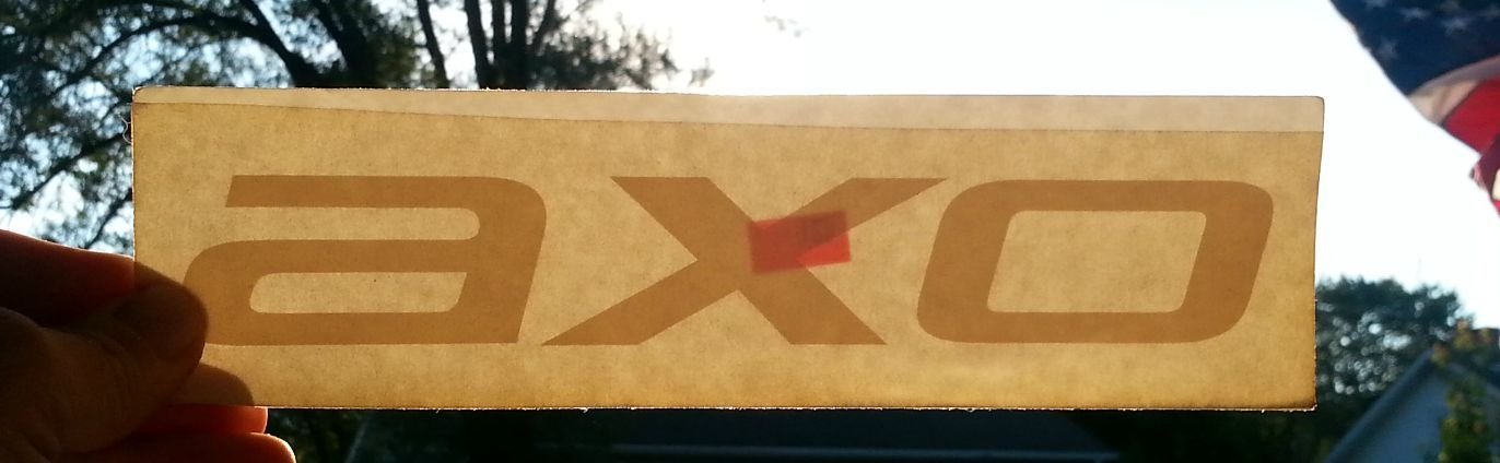 "AXO sticker (outline,black) - 8 1/2"" x 2 1/4"""