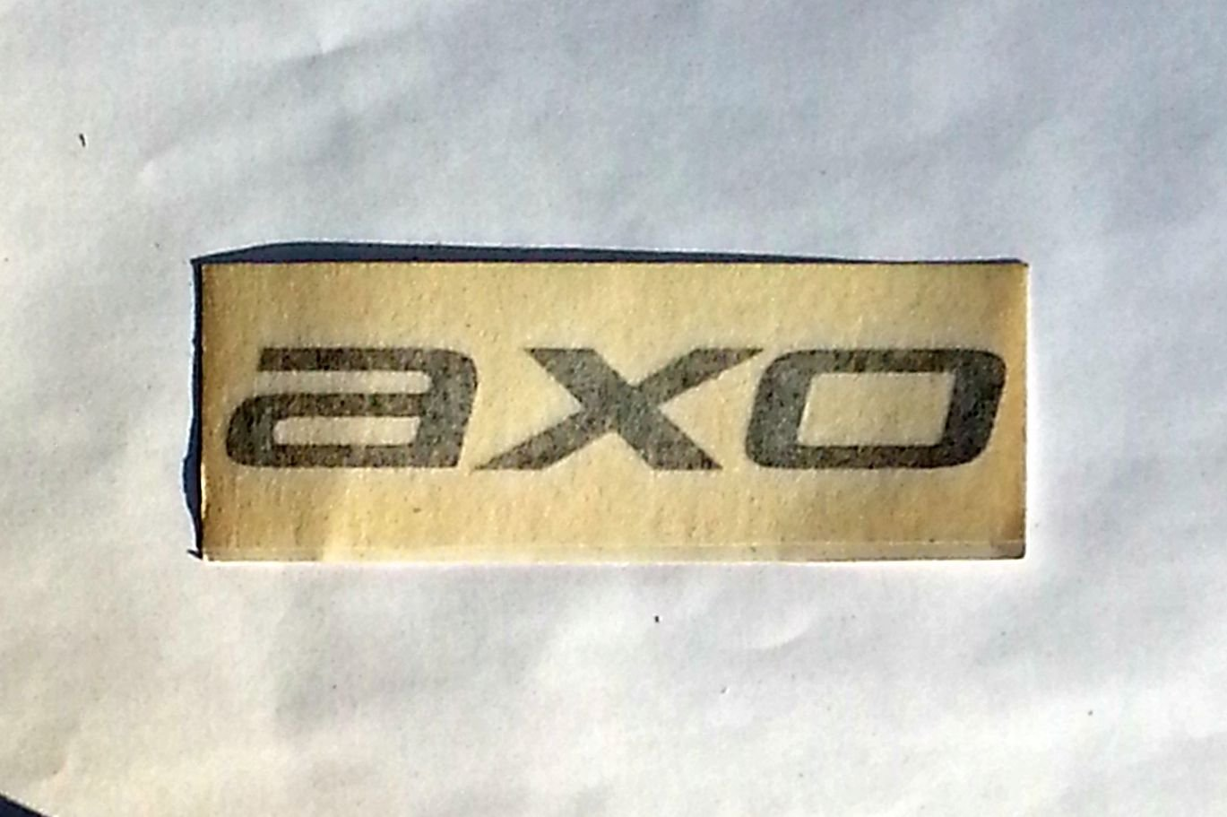 "AXO sticker (outline,black) - 4 3/4"" x 1 1/2"""