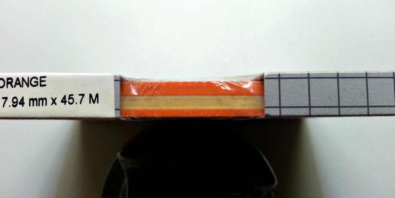 "Cal-Stripes Orange two-stripe pinstriping 5/16"" x 150'"