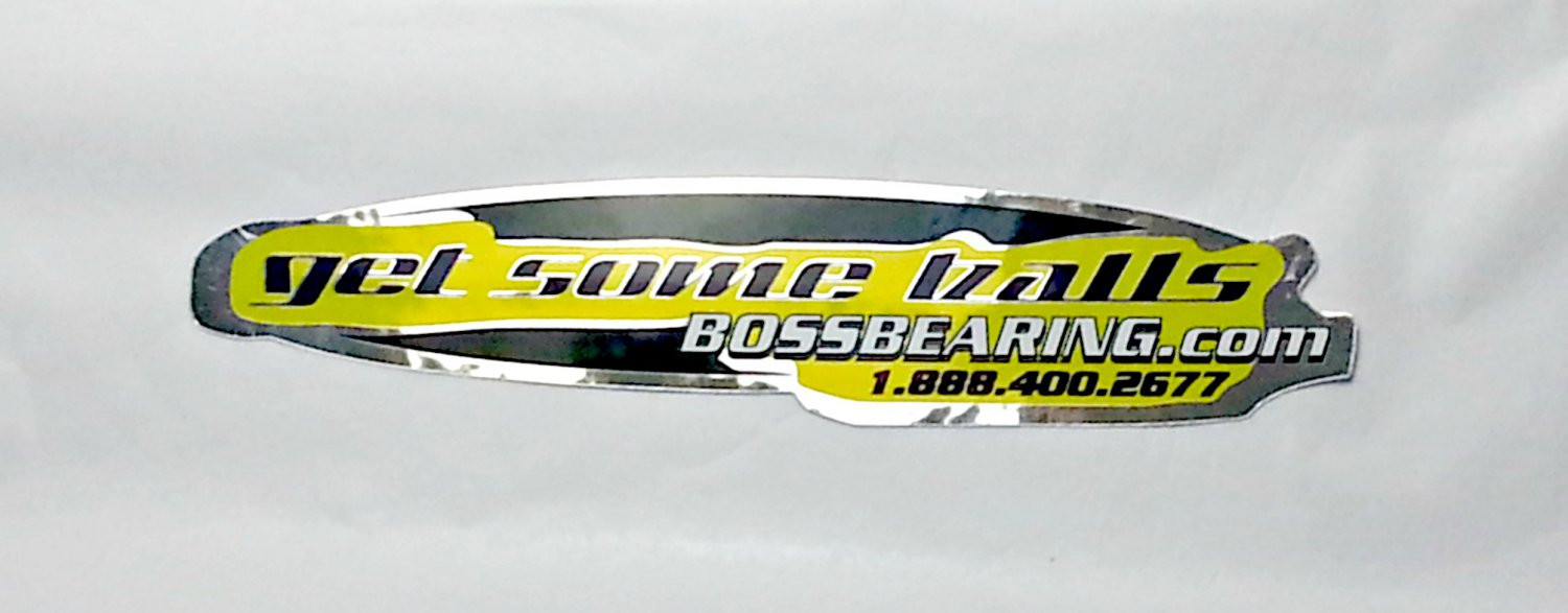 "Boss Bearing sticker - 6 1/8"" x 1 1/8"""