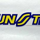 "Sunstar sticker - 6 1/2"" x 1"""