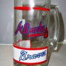 Vintage 90s Atlanta Braves Glass Mug
