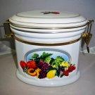 Knott's Berry Farm Oval Ceramic Cookie Jar Canister