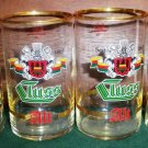 Set of 4 Vintage Cluss Alt Beer Stange/Stick/Stuck Glasses