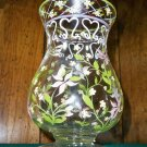 Giant Floral Hurricane Style Novelty Fish Bowl Glass or Vase