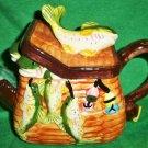 Ceramic Fish Creel Teapot - Reel it in!!