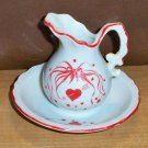 Collectable Sweetheart Valentine' s Ceramic Creamer and Saucer