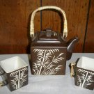 Beautiful Brown Oriental Stoneware Tea Set by Zazen