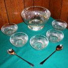 Stellar Glass and Silverplate Salad Bowl Set