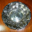 Antique Silverplate Bowl - Crown/ Spain WA - Grapes