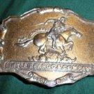 Vintage Wells Fargo & Company Pony Express Belt Buckle - 1902