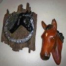 2 Vintage  Horse Head Wall Hang Decorations