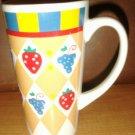 Vintage Tall Painted Fruit Coffee / Tea Mug