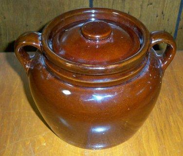 Antique Stoneware Brown Large Ceramic Jar