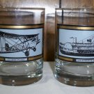 "Vintage Set of Two Avon ""America on The Move"" Rock Glasses"