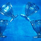Vintage Set of 4 Ice Cream Sundae/Parfait Cup- Glasses -