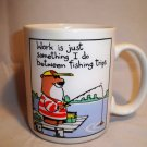 Funny  Shoebox Memories Hallmark Fishing Ceramic Coffee Tea Mug