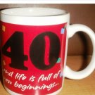 40th Happy Birthday Mug