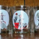 "Set of 5 Norman Rockwell ""Saturday Evening Post"" Juice Glasses"