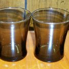Set of 4 Dark Amber Juice / Rocks Glasses