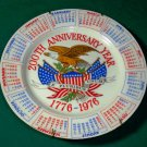 July 4th American Bicentennial Collectable Calendar  Plate