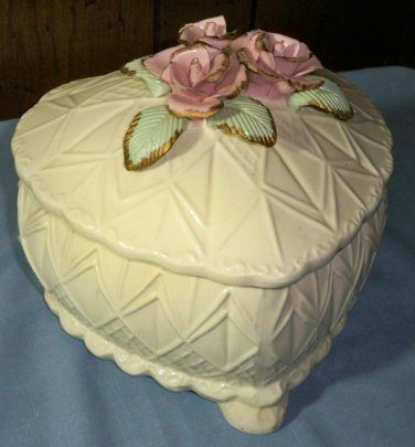 Large Ceramic Heart Shaped Keepsake Box