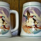 Set of 2 Vintage Country Den Tankard Mallard Duck Stein