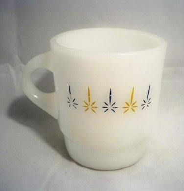 Vintage Anchor Hocking White Fire King Milk Glass Coffee Cup