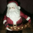 CLEARANCE-  Ceramic Santa Treat/Trinket Jar