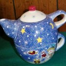 CLEARANCE-  Holiday Ceramic Tea For One / Coco Pot Set - Studio Nova