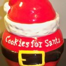 "CLEARANCE-  ""Cookies for Santa"" Ceramic Cookie Jar"