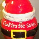 "CLEARANCE-  ""Cookies for Santa"" Ceramic Cookie Jar"