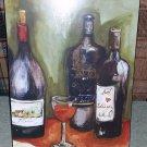 Wine Bottle Still Life Restaurant Art Picture