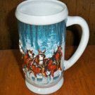 "CLEARANCE!!  Budweiser ""Winter's Calm "" 2007 Holiday Stein - CS678"