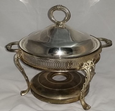 Vintage Silverplate Chaffing Dish Base and Lid
