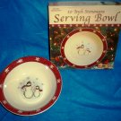 Royal Seasons Holiday Snowman Stoneware 10 Inch Serving Bowl