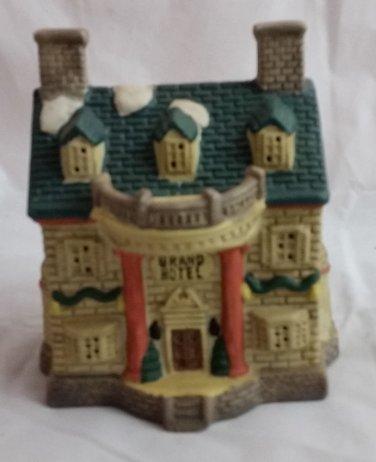 Ceramic Hotel Building Winter Valley Village
