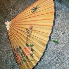Vintage Oriental Parasol Sun Umbrella