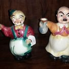 Vintage Ceramic Waiter Figurine and Hideaway Bottle Decanter