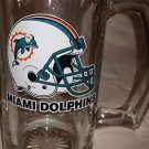 Vintage Miami Dolphins NFL Beer Glass Beer Mug/Stein