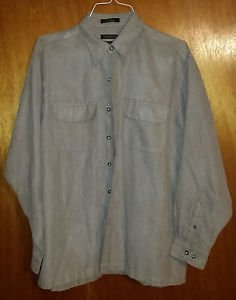 Tan /Light Brown Van Heusen Soft Sueded Polyester Dual Pocket Shirt
