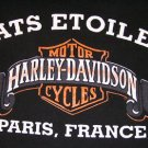Harley Davidson ATS Etoile Paris France Tee Shirt size L