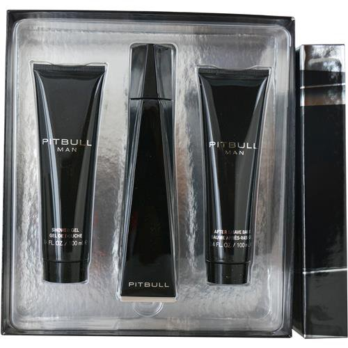 by Pitbull EDT SPRAY 3.4 OZ & AFTERSHAVE BALM 3.4 OZ & SHOWER GEL 3.4 OZ