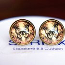 12mm Vintage Butterflies Earring Glass Dome Fly Butterfly Photo Stud Earring