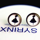 10mm Ballet Girl Stud Earrings Glass Dome Earring Girl Image Stud Earrings