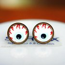 10mm Eye Earrings Glass Cabochon Earring Eyeball Stud Earrings Eye Post Studs