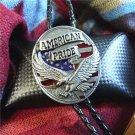 Bolo Tie Totem Necklace - American Pride Eagle Necklace Tie - Vintage Bola Tie t12