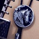 Bolo Tie Totem Necklace - Horse Head  Bolo Tie Necklace - Vintage Bola Tie t02