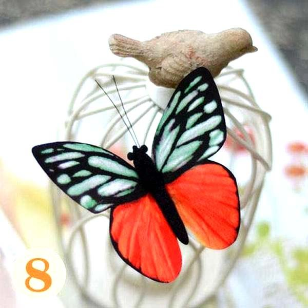 Butterfly Hair Clips Silk Butterfly Bobbypin Wedding Hairpin Bridesmaid hair  (1 piece)
