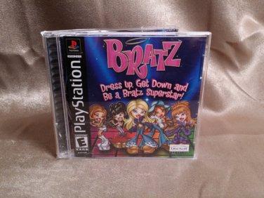 PlayStation 1 PS1 BRATZ Dress up, Get Down & Be A Bratz Superstar! - CD Sony ps Game